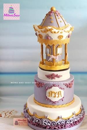 Carousel music box cake 🎠🎶 - Cake by Mero Wageeh