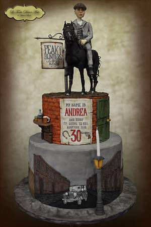 Peaky Blinders themed cake  - Cake by Adelina Baicu Cake Artist