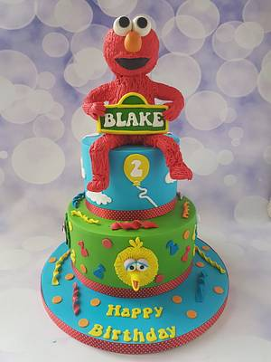 Elmo and friends  - Cake by Jenny Dowd