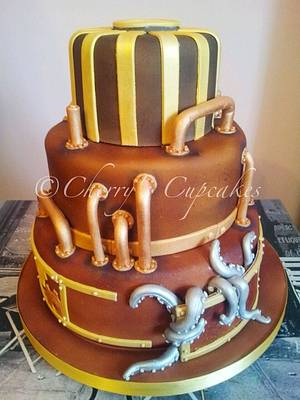 Steampunk Wedding Cake - Cake by Cherry's Cupcakes