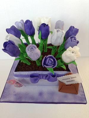 Flower Pot Cake - Cake by Jing14