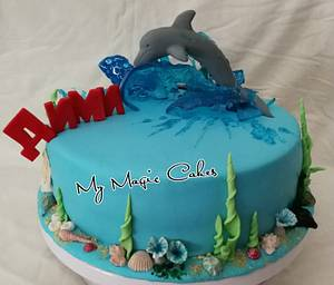 Dolphin cake for Dimi - Cake by My Magic Cakes