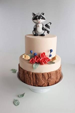 Racoon Fondant Cake - Cake by Monique Ascanelli