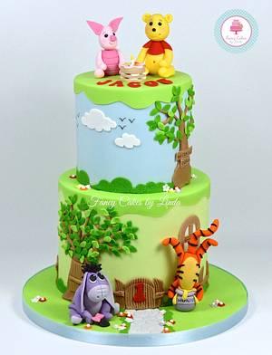 Disney Inspired Winnie the Pooh Themed Birthday Cake - Cake by Ceri Badham