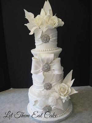 white on white cake - Cake by Claire North