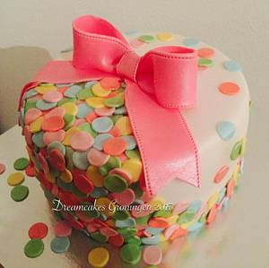 Confetti cake - Cake by Dreamcakes Groningen