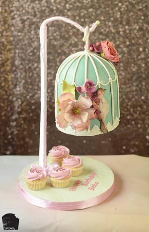 Gravity defying bird cage cake - Cake by Sahar Latheef