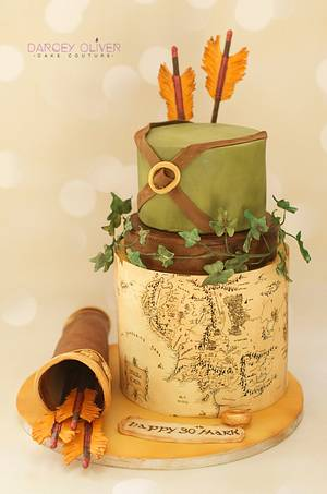Lord of the Rings - Cake by Sugar Street Studios by Zoe Burmester