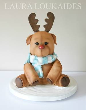 Rocco the Toy Reindeer - Cake by Laura Loukaides