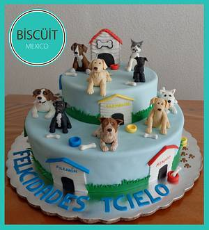 Dogs - Cake by BISCÜIT Mexico