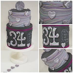 34 is only a number... - Cake by Ponona Cakes - Elena Ballesteros