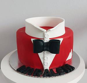 Man bow tie cake - Cake by LanaLand