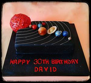 Solar System  - Cake by Enza - Sweet-E