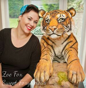 Life Size Tiger Cake - Bakers Unite To Fight  - Cake by Sweet Foxylicious