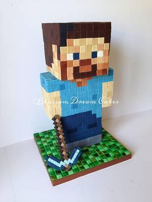 Minecraft Steve - Cake by Blossom Dream Cakes - Angela Morris