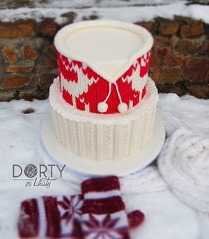 Norwegian sweater cake - Cake by Jana Šetina-Köhlerová