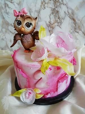 Cute owl cake - Cake by vdslatki