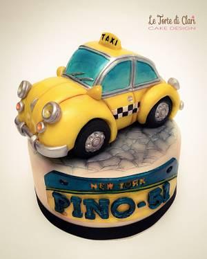 NY vintage taxi - Cake by Rita Cannova