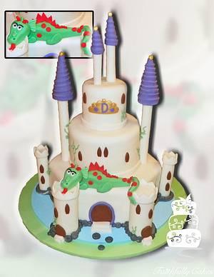 Castle and Dragon birthday - Cake by FaithfullyCakes