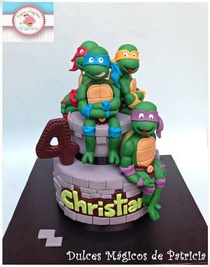 Ninja cake!! - Cake by Dulces Mágicos de Patricia