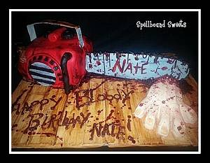 Evil Dead Chainsaw Cake - Cake by Bethanny Jo
