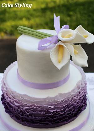 Lilac cake - Cake by Cake Styling