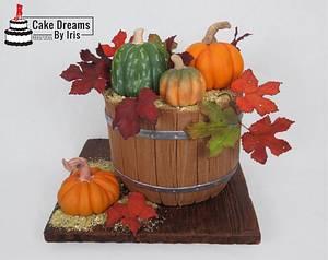 Fall basket cake - Cake by Iris Rezoagli