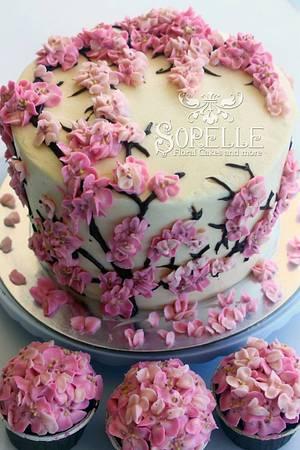 Sakura cake - Cake by Sorelle Floral Cakes