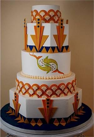 Art Deco Wedding Cake - Cake by Jenniffer White