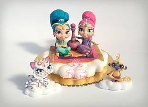 Shimmer and Shine cake topper - Cake by Le Creazioni di Ninfa - Ninfa Tripudio