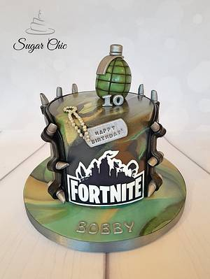 Fortnite Birthday Cake  - Cake by Sugar Chic