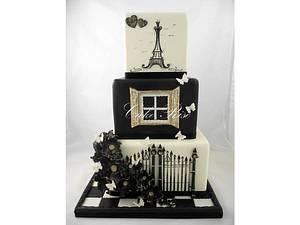 Romantic Wedding Cake - Cake by Karina Leonard
