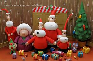 """'The Santa Claus Brothers' for """"BAKE A CHRISTMAS WISH""""  - Cake by Cakes by Kirsty"""