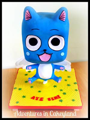 'Happy' Fairy Tail Chibi Cake - Cake by Adventures in Cakeyland