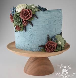 Roses at Midnight - Cake by vivalabuttercream