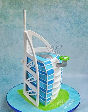 Burj Al Arab Cake !! - Cake by Hima bindu
