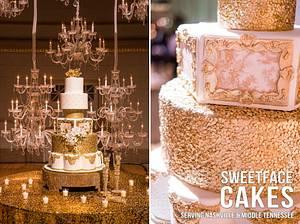 Gold & White Wedding Cake - Cake by Renay Zamora