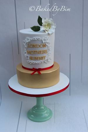 Gold'n'Blossoms - Cake by Bim- Baked By Bim