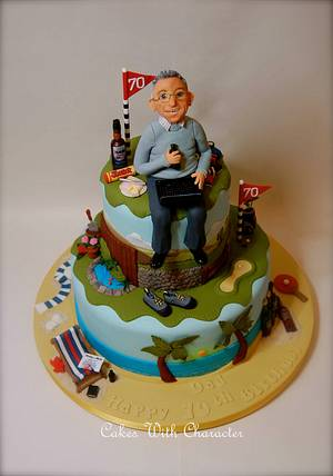 My Dad's 70th Birthday - Cake by Cakes With Character