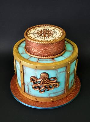 Nautical cake - Cake by ArchiCAKEture