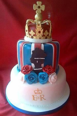 Queen's Jubilee cake - Cake by BuntysCakery