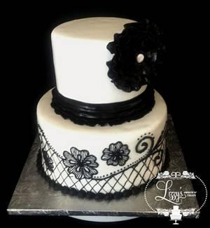 Black and White Cake - Cake by Elizabeth