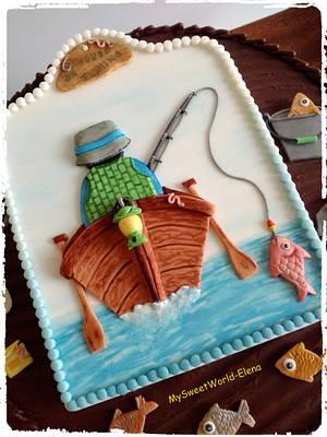 Hooked on Fishing 🎣 - Cake by My Sweet World_Elena