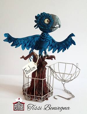 Macaw - Animal Rights Collaboration - Cake by Tissì Benvegna