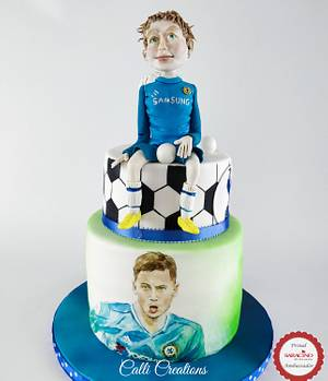Football Party Cake  - Cake by Calli Creations