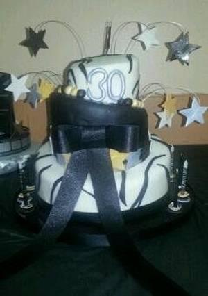 Zebra topsy turvy - Cake by Shylonda Waters