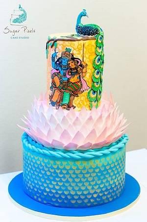 An Indian themed wedding cake - Cake by Rakesh Menon