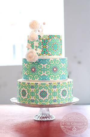Tiled Pattern Cake - Cake by Oh Gateaux