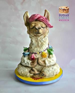 Good Karma Llama - Cake by Sugar Street Studios by Zoe Burmester