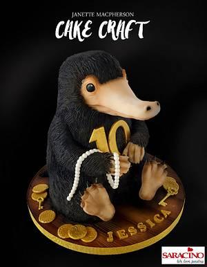 3D Niffler cake! Fantastic Beasts - Cake by Janette MacPherson Cake Craft